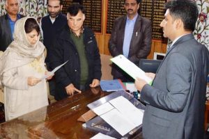 Mehbooba, Mir file papers for Anantnag seat