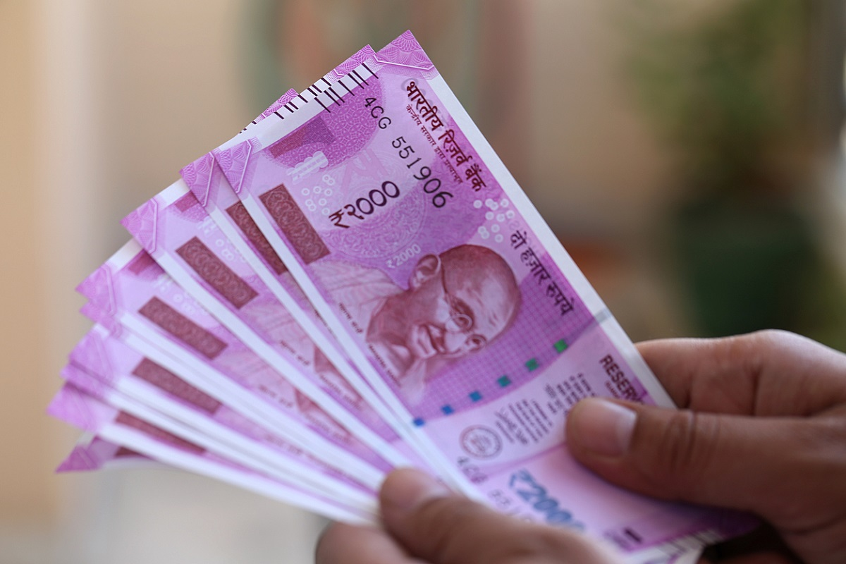 The rupee appreciated by 4 paise to 69.36 against the US dollar in opening trade Tuesday, driven by weakening of the greenback and positive opening in domestic equities.
