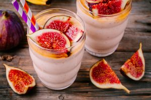 Recipe:Fig-Honey-Saffron Milk Shake