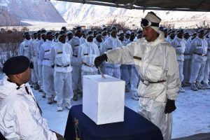 Soldiers cast votes at Siachen Glacier