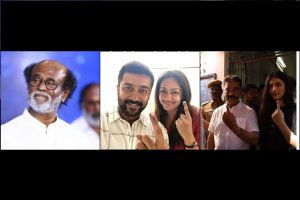 Rajinikanth, Dhanush, Ajith among early voters