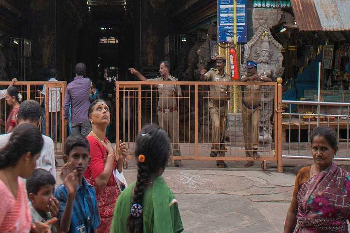 temple stampede