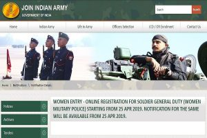 In a first, Indian Army to start online registration of women for recruitment as jawans from today