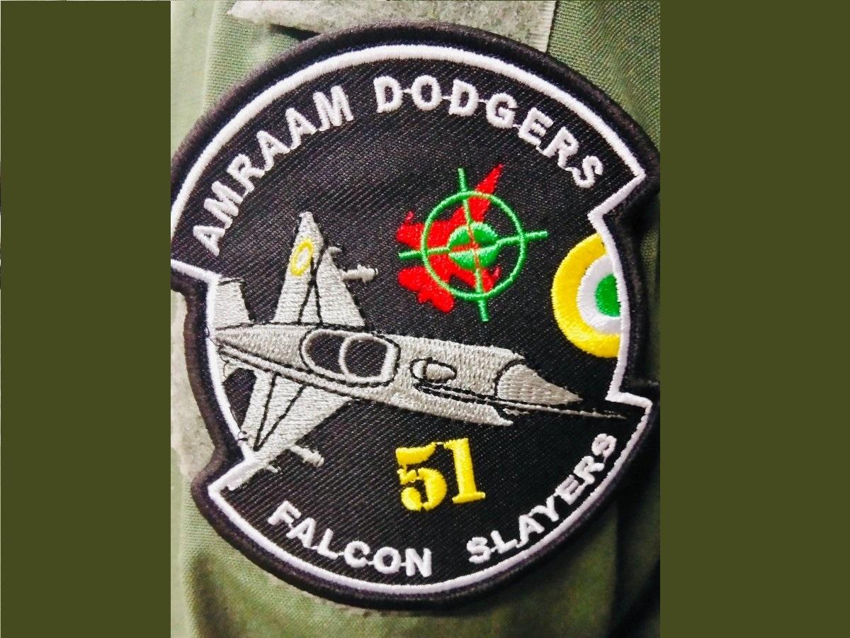 Srinagar squadron, Falcon Slayers, Shoulder patch, Abhinandan Varthaman, F-16, AMRAAM Dogers