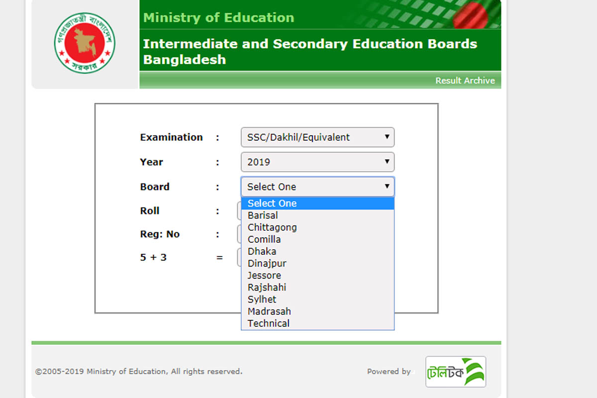 SSC Results BD 2019 board-wise passing percentage released