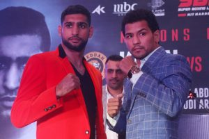 Amir Khan to face Neeraj Goyat in Saudi Arabia on July 12