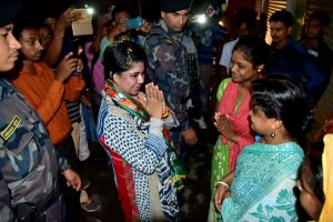 BJP demands action against officers who stopped Bharati Ghosh's car