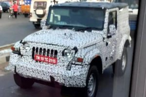 Mahindra's New Thar Spotted With Hard Top