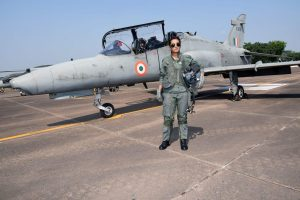 Flight Lieutenant Mohana Singh becomes first woman to fly missions on advanced Hawk