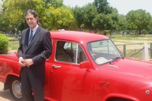 People are in love with this red Ambassador of German ambassador to India