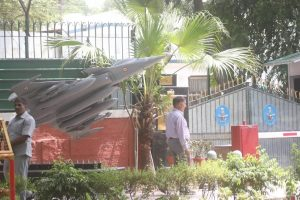 IAF erects Rafale replica outside Air Chief's house, bang opposite Congress HQ