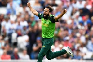 Imran Tahir becomes 1st spinner to bowl opening over at World Cup