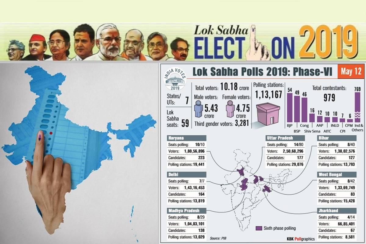 Lok Sabha Elections 2019 Phase 6, Lok Sabha Elections 2019, Phase 6, Live Updates, Atishi, Gautam Gambhir, Dry day, Delhi votes