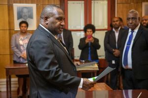 Papua New Guinea lawmakers overwhelmingly elect James Marape as PM.