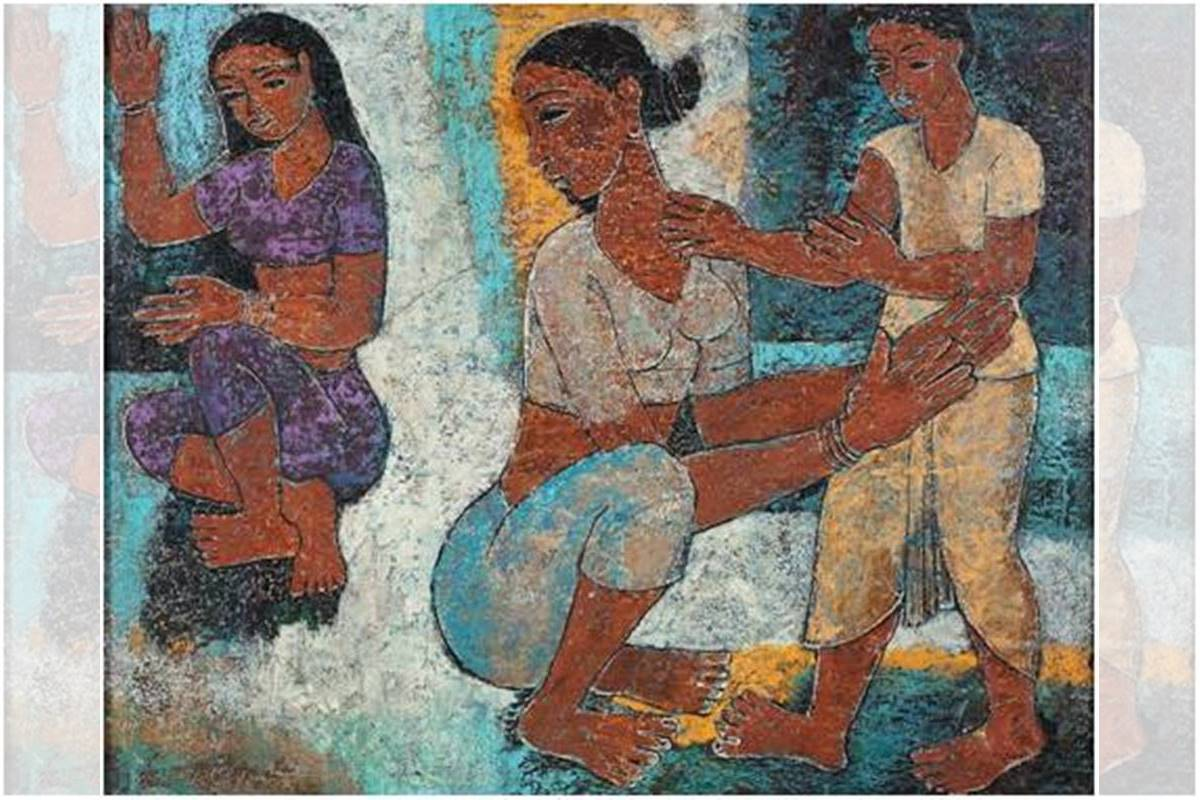 Happy Mother's Day, mother and child, modern Indian art , MV Dhurandhar, MF Hussain, Jamini Roy, Madhvi Parekh, PT Reddy, Mother goddesses, Sahapedia, Saha Sutra, DAG