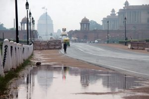 Mercury down as rain lashes Delhi
