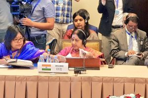 Pulwama, Lanka attacks strengthened our resolve to combat terror: Sushma Swaraj at SCO meet