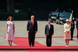 Donald Trump becomes first world leader to meet Japanese Emperor Naruhito