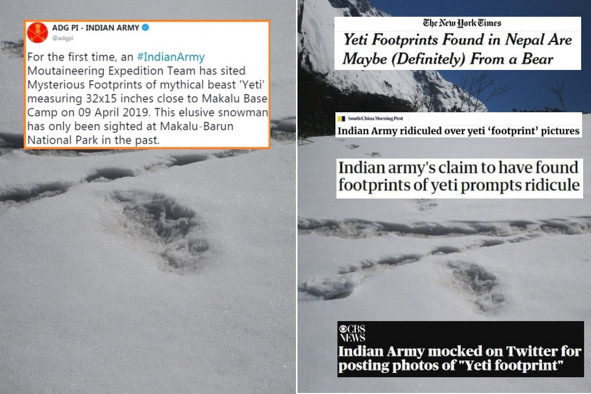 How international media reported Yeti footprints discovery
