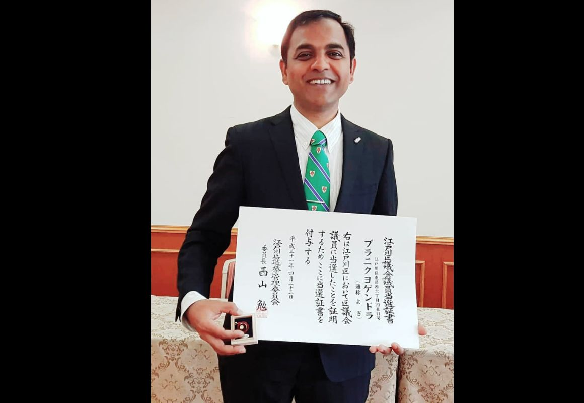 Banker Yogendra Puranik, first Indian to win a Japan election, wants to bring bank culture to politics