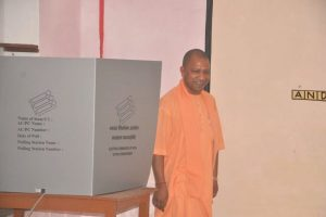 UP CM Yogi Adityanath casts vote in Gorakhpur, says BJP will win