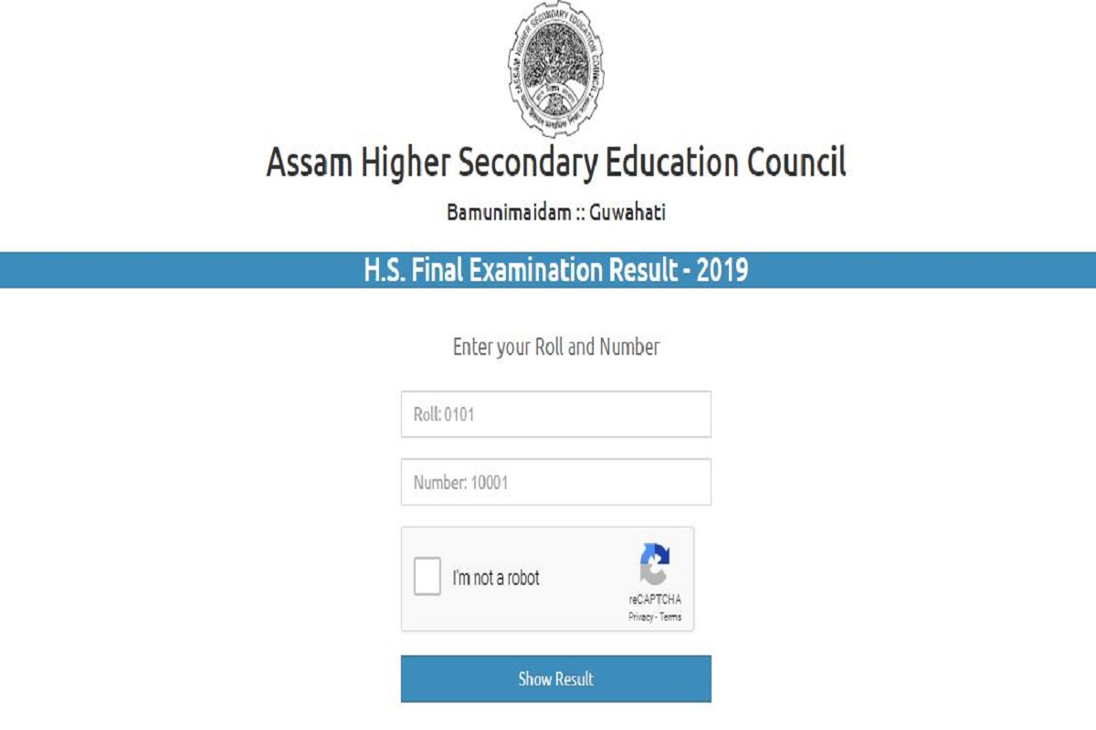 Assam Board class 12 results 2019, assamonline.in, assamresults.in, hsinfo.in, Assam Higher Secondary Education Council, ahsec.nic.in, Assam Higher Secondary results 2019