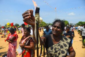Thousands gather to remember victims of civil war in Sri Lanka