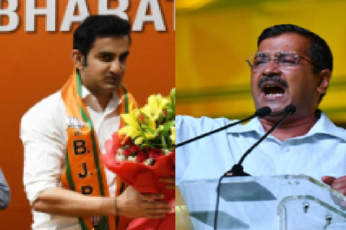 AAP BJP tussle, Arvind Kejriwal, BJP, Gautam Gambhir, Aam Aadmi Party, AAP, Atishi, Lok Sabha elections, Delhi