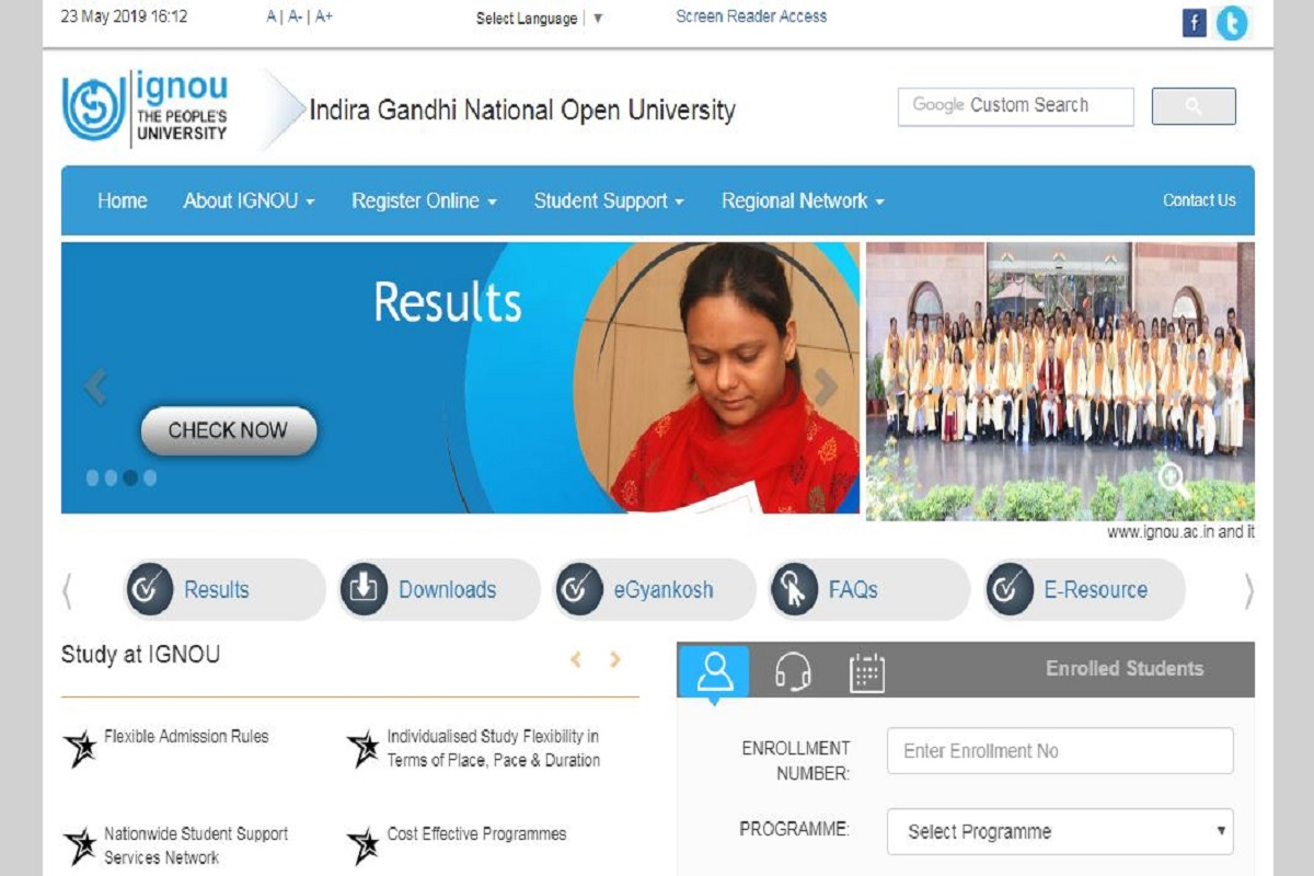 IGNOU June 2019 Hall Tickets, ignou.ac.in, Indira Gandhi National Open University, IGNOU Term end admit cards