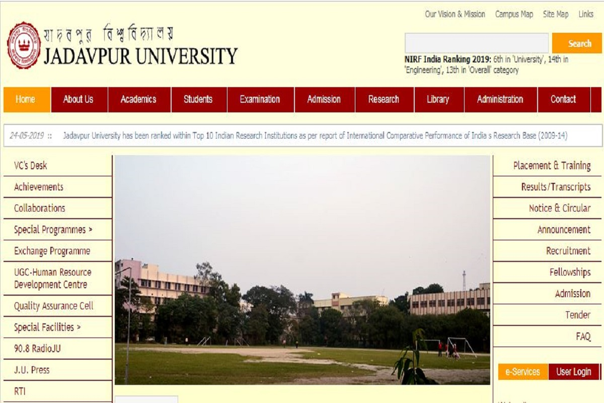 Jadavpur University admissions, Jadavpur University, Jadavpur University science departments, JU UG courses