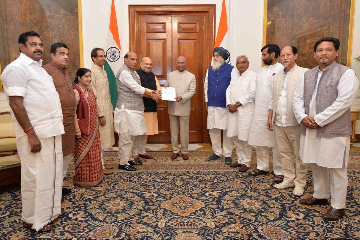 17th Lok Sabha, Lok Sabha, Narendra Modi, Rashtrapati Bhavan, President Ram Nath Kovind, NDA, BJP