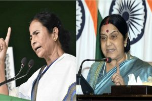 Wanted to give PM Modi 'tight slap of democracy', says Mamata; Sushma warns of 'crossing limits'