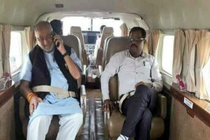 PM brother Prahlad Modi sits on dharna demanding separate vehicle for guards