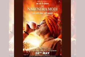 Actor Vivek Oberoi, Union Minister Nitin Gadkari launch PM Narendra Modi poster in Nagpur