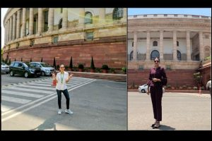 Mimi Chakraborty, Nusrat Jahan get judged for their style in Parliament