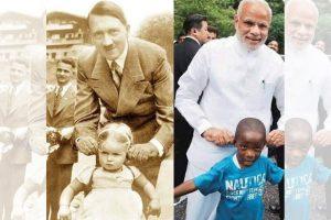 RGV tweets photo-shopped image drawing Hitler-Modi parallel