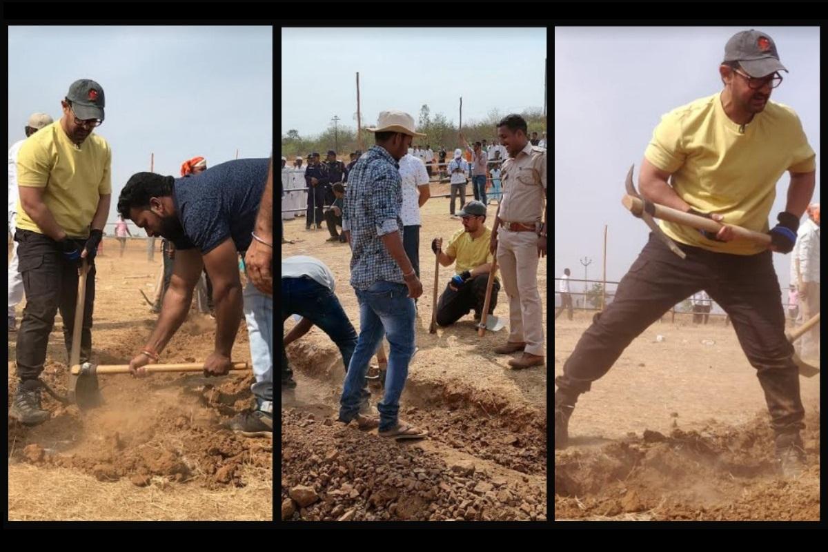 Aamir Khan, Kiran Rao, Maharashtra Day, International Labour Day, shramdaan, Paani Foundation, Satara district, Chilewadi