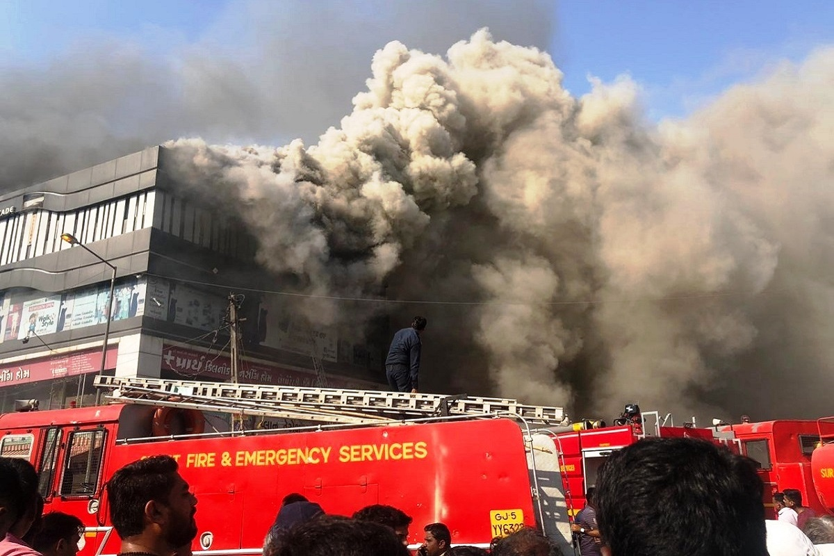 Surat, Vijay Rupani, Gujarat, Takshila Commercial Complex, Sarthana