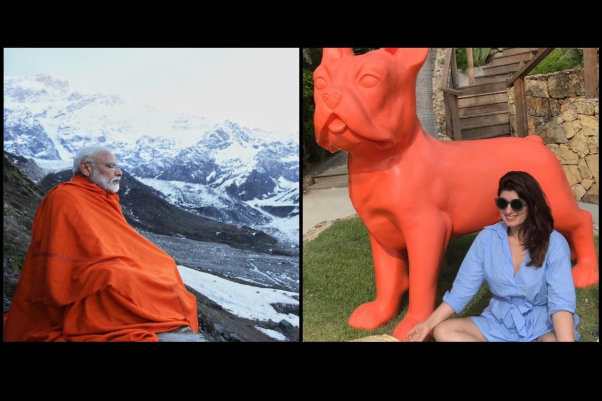 PM Narendar Modi, Twinkle Khanna, Mrs. Funnybones, meditation jibe, Akshay Kumar, Kedarnath photo
