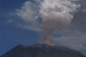 Flights cancelled as volcano erupts in Indonesia