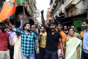 Bengal BJP workers protest over Bhatpara clashes that killed 2