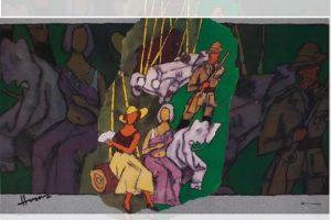 death anniversary, M.F. Husain, Pandharpur, Maharasthra, Progressive Artists' Group, Abdul Husain, Mother Teresa, Mridang, Tiger and Woman, Meenaxi: A Tale of Three Cities, Through the Eyes of a Painter, Berlin International Film Festival, Chi Pei She, Ramayana, Mahabharata, Namboothiri Brahmin, Egyptian art, Ram Kumar, Theatre of the Absurd, Gulf War, Indira Gandhi, Padma Shri, Padma Vibhushan, Ebrahim Alkazi