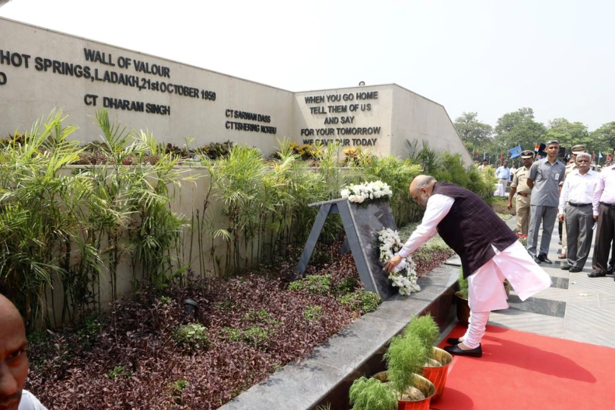 Home Minister, Amit Shah, Tribute, National Police Memorial