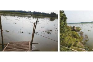 Swollen Atryee takes away crop, bridges