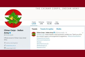 Chinar Corps Twitter handle gets verified blue tick