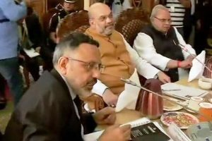 Amit Shah reaches Srinagar to review Amarnath pilgrimage security arrangements