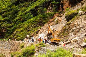 Thapa tours Tindharia landslide-hit area
