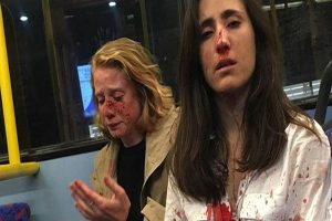 Lesbians attacked on London bus for refusing to kiss for men
