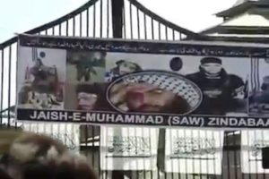 J-K: Protesters display posters of Zakir Musa, Masood Azhar, pelt stones at security forces