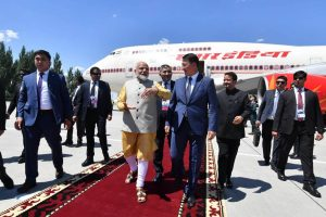 PM Modi reaches Bishkek for SCO Summit; to hold bilateral talks with Putin, Xi